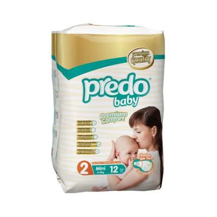 Подгузники для новорожденных Predo Baby Стандартная пачка (12 шт.) № 2 (3-6 кг.) мини