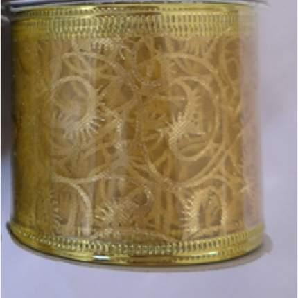 Лента декоративная Феникс Present золотой узор, 6,3x270 см