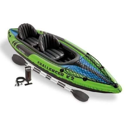 Лодка Intex Challenger-K2 Set 3,51 x 0,76 м green