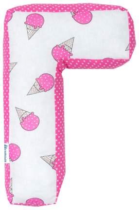 Подушка Крошка Я буква Г 35х21 см, розовый