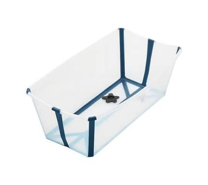 Ванночка с горкой Stokke Flexi Bath Bundle, Tub with Newborn Support Transparent Blue