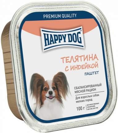 Консервы для собак Happy Dog, для мелких пород, паштет, телятина с индейкой, 100г