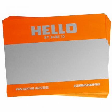 Набор 100 оранжевых стикеров Montana