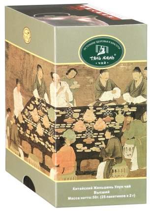 Чай Тянь-Жень женьшень улун китайский байховый пакетированный 25 пакетиков
