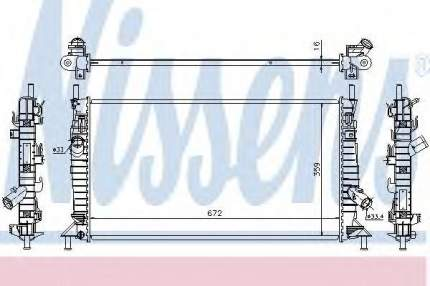 Радиатор Nissens 62017A