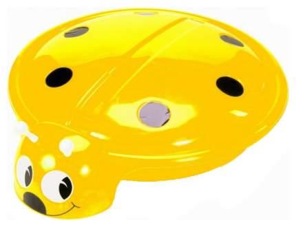 Песочница- бассейн Божья Коровка крышкой жёлтый 92 см С 203