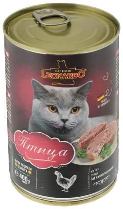 Консервы для кошек Leonardo Quality Selection, домашняя птица, 24шт, 400г