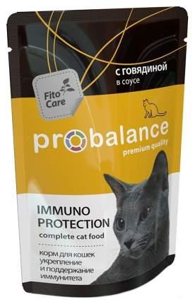 Влажный корм для кошек ProBalance Immuno Protection, с говядиной в соусе, 25шт по 85г