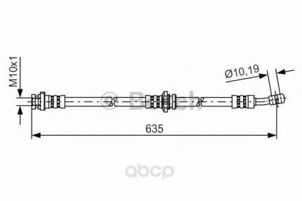 Шланг тормозной Bosch 1987481433