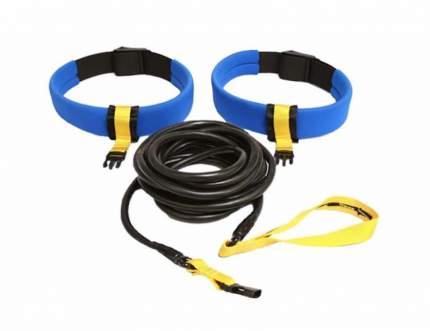 Тормозной пояс для плавания StrechCordz Safety Long Belt Slider серебристый/синий/желтый