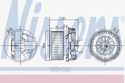 Мотор отопителя Nissens 87209