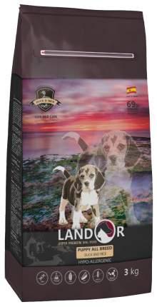 Сухой корм для щенков Landor Puppy All Breed, все породы, утка и рис, 3кг