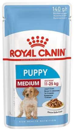 Влажный корм для щенков ROYAL CANIN Medium Puppy, для средних пород, мясо, 140г