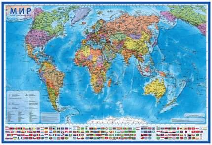 Настольная политическая карта Globen Мир 155М