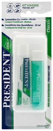 Зубная паста PresiDENT Classic 25 мл + Зубная щетка