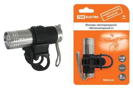 Велосипедный фонарь передний TDM Electric SQ0350-0028 черный/серебристый