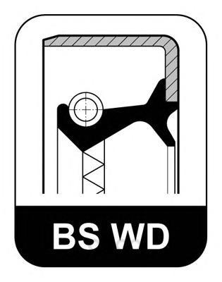 Сальник редуктора заднего моста 52x72x12 mb 814 Elring 006564