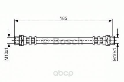 Шланг тормозной системы Bosch 1987476458 задний
