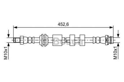 Шланг тормозной системы Bosch 1 987 481 741