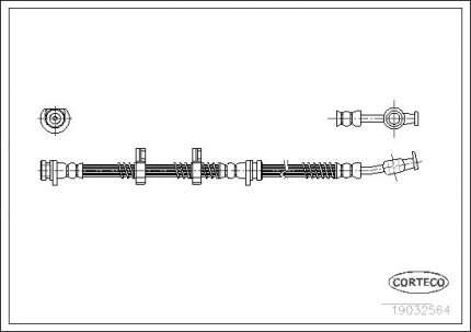 Шланг тормозной CORTECO 19032564