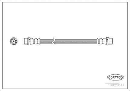 Шланг тормозной CORTECO 19025844