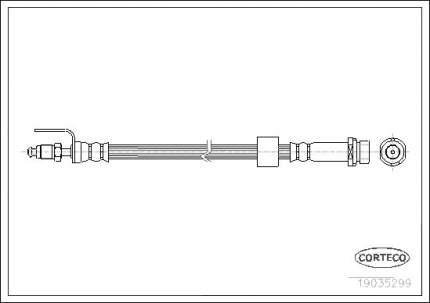 Шланг тормозной CORTECO 19035299