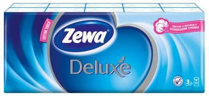Платочки бумажные носовые Zewa Deluxe, 3 слоя, 10шт.Х10