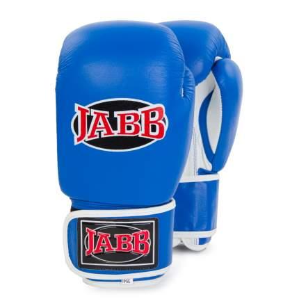Боксерские перчатки Jabb JE-2014 белые/синие 10 унций