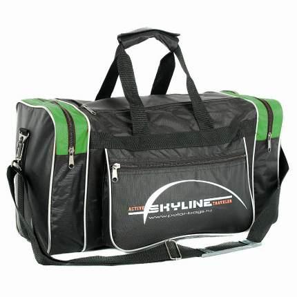 Спортивная сумка Polar Джонсон Нейлон 6009с зеленая/черная