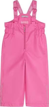 Брюки на лямках для девочки Barkito розовые р.74