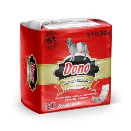 Подгузники для домашних животных DONO Male Pet Diaper одноразовые, талия 30-48 см, 12 шт