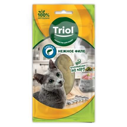 Лакомство для кошек Triol, филе трески, 1шт, 20г