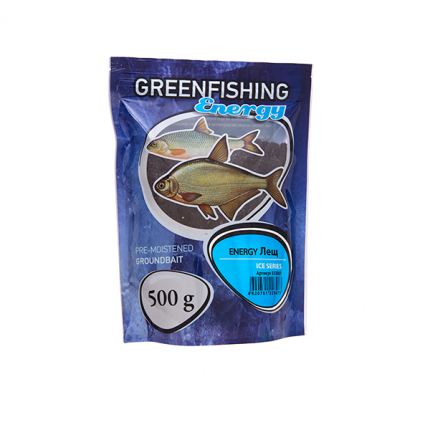 Прикормка зимняя готовая Green Fishing Energy Лещ 0,5 кг