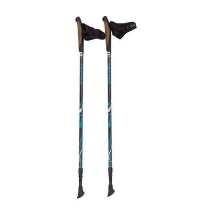 Палки для скандинавской ходьбы Finpole Geo, черный/синий, 82-135 см