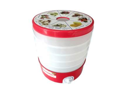 Сушилка для овощей и фруктов ДАЧНИЦА СШ-006 white/red