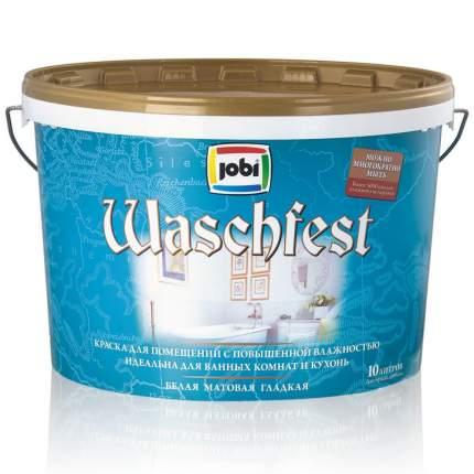 Краска JOBI WASCHFEST для ванных и кухонь 10л