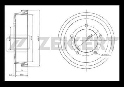 Тормозной барабан ZEKKERT BS-5453