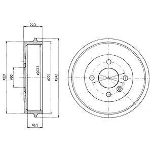 Тормозной барабан DELPHI BF346