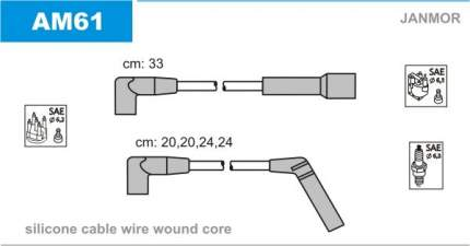 Комплект проводов зажигания JANMOR AM61