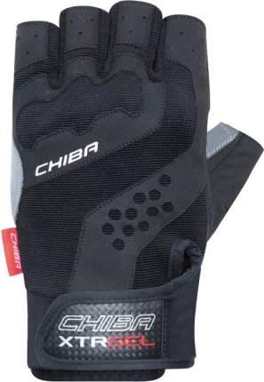 Перчатки для фитнеса мужские Chiba Workout Line Wristguard Protect, серые/черные, L INT