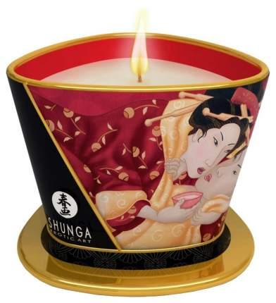Массажная свеча Shunga Sparkling Strawberry Wine с ароматом клубничного вина 170 мл