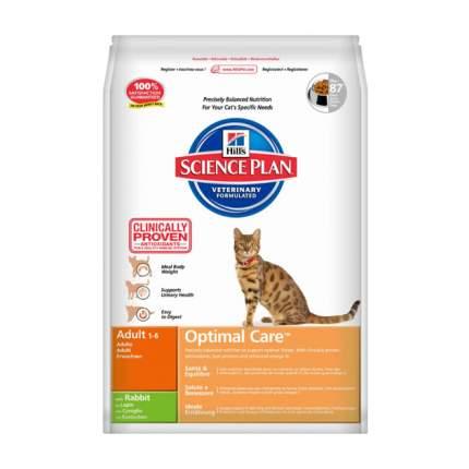 Сухой корм для кошек Hill's Science Plan Optimal Care, кролик, 2кг