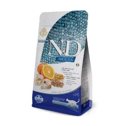 Сухой корм для кошек Farmina N&D, низкозерновой, рыба и апельсин, 1,5кг