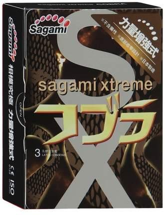 Презервативы Sagami Xtreme Cobra суженные к основанию 3 шт.