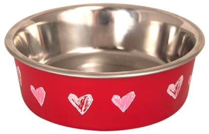 Миска для домашних животных Triol BL-20 Сердца, нержавеющая сталь, красная, 450 мл