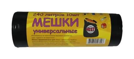 Мешки для мусора AST черные 90 х 125 см 240 л 10 шт