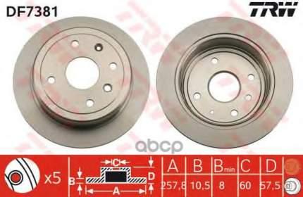 Тормозной диск TRW/Lucas DF7381