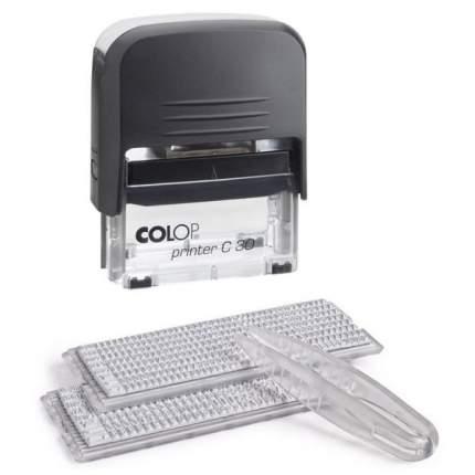 Штамп самонаборный Colop Printer 30 SET РУС. Поле: 47х18 мм. 5 строк. 2 кассы.