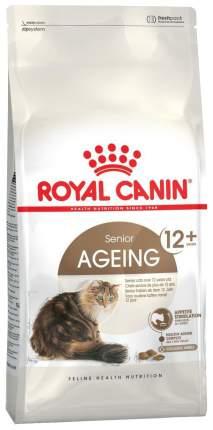 Сухой корм для кошек ROYAL CANIN Senior Ageing 12+, для пожилых, мясо, 4кг