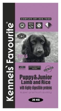 Сухой корм для щенков Kennels Favourite Puppy and Junior, ягненок, рис, 20кг